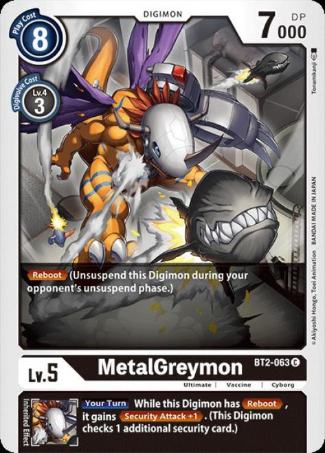 Digimon Trading Card Game 2020 V.1 Common MetalGreymon BT2-063