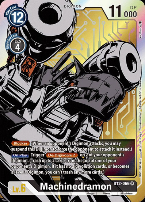 Digimon Trading Card Game 2020 V.1 Super Rare Machinedramon BT2-066 [Alternative Art]
