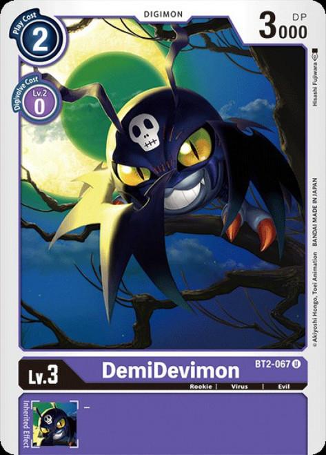Digimon Trading Card Game 2020 V.1 Uncommon DemiDevimon BT2-067