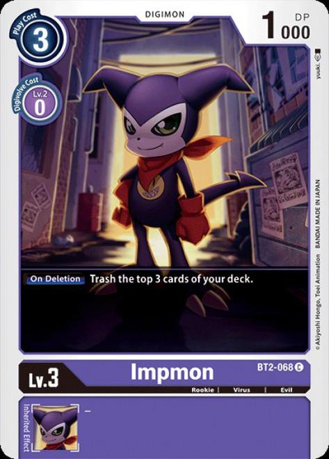 Digimon Trading Card Game 2020 V.1 Common Impmon BT2-068