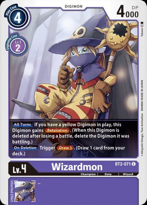Digimon Card Game Digimon 2020 V.1 Common Wizardmon BT2-071