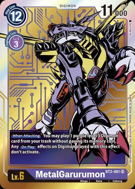 Digimon Trading Card Game 2020 V.1 Super Rare MetalGarurumon BT2-081 [Alternative Art]