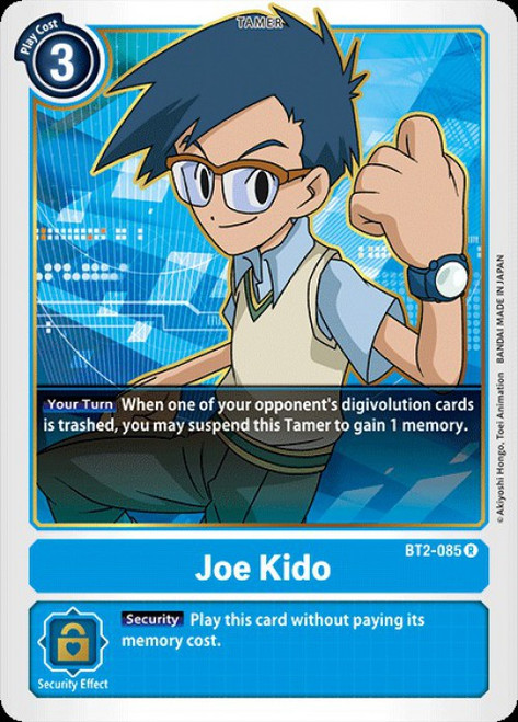 Digimon Trading Card Game 2020 V.1 Rare Joe Kido BT2-085