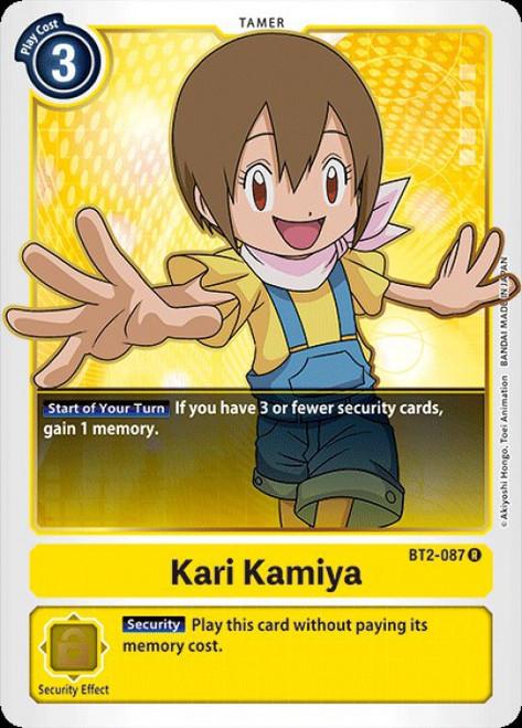 Digimon Trading Card Game 2020 V.1 Rare Kari Kamiya BT2-087
