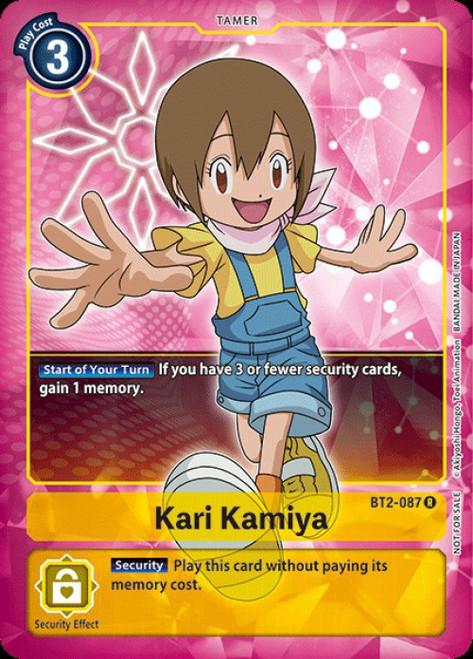 Digimon Trading Card Game 2020 V.1 Rare Kari Kamiya BT2-087 [Alternative Art]