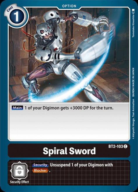 Digimon Trading Card Game 2020 V.1 Common Spiral Sword BT2-103
