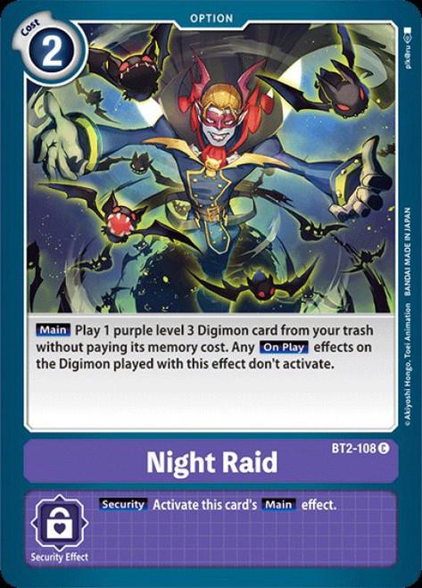 Digimon Trading Card Game 2020 V.1 Common Night Raid BT2-108
