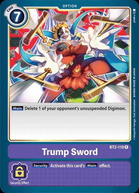 Digimon Trading Card Game 2020 V.1 Rare Trump Sword BT2-110