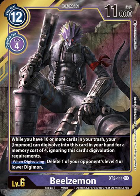 Digimon Trading Card Game 2020 V.1 Secret Rare Beelzemon BT2-111 [Alternative Art]