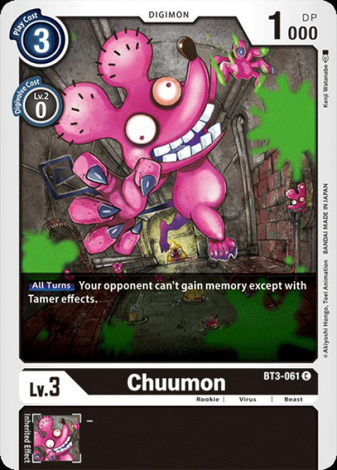 Digimon Trading Card Game 2020 V.1 Common Chuumon BT3-061