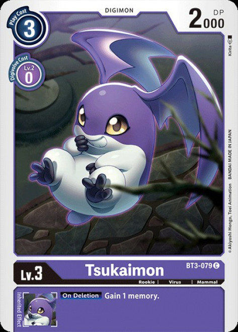 Digimon Card Game Digimon 2020 V.1 Common Tsukaimon BT3-079
