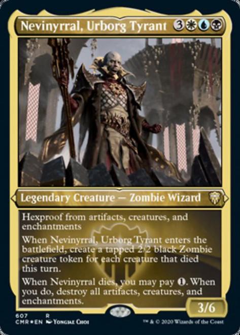MtG Commander Legends Rare Nevinyrral, Urborg Tyrant #607 [Etched Foil]