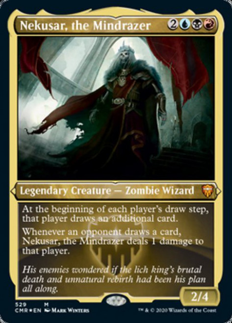MtG Commander Legends Mythic Rare Nekusar, the Mindrazer #529 [Etched Foil]