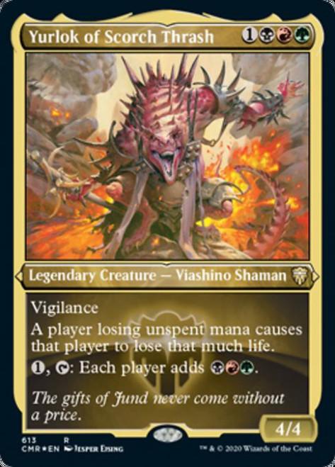 MtG Commander Legends Rare Yurlok of Scorch Thrash #613 [Etched Foil]