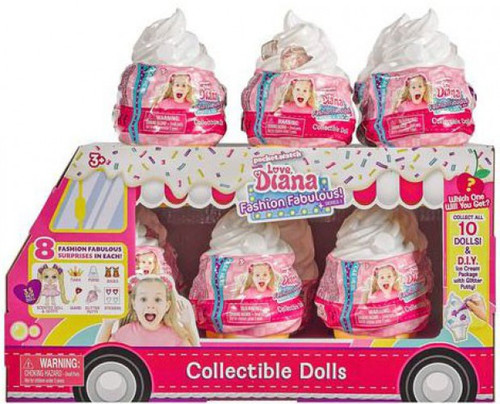 Love, Diana Fashion Fabulous! Collectible Doll Series 1 3.5-Inch Mystery Box [12 Packs]