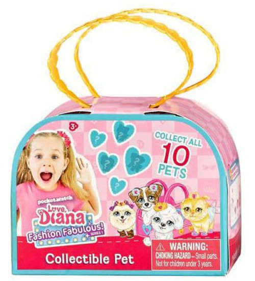 Love, Diana Fashion Fabulous! Collectible Pet Series 1 3.5-Inch Mystery Pack [1 RANDOM Pet!]
