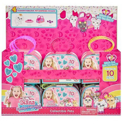 Love, Diana Fashion Fabulous! Collectible Pet Series 1 3.5-Inch Mystery Box [12 Packs]