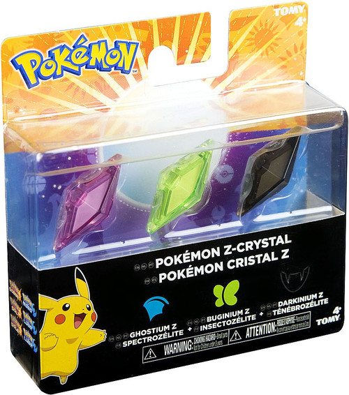 Pokemon Z-Ring Ghostium Z, Buginium Z & Darkinium Z Crystal 3-Pack [Loose]