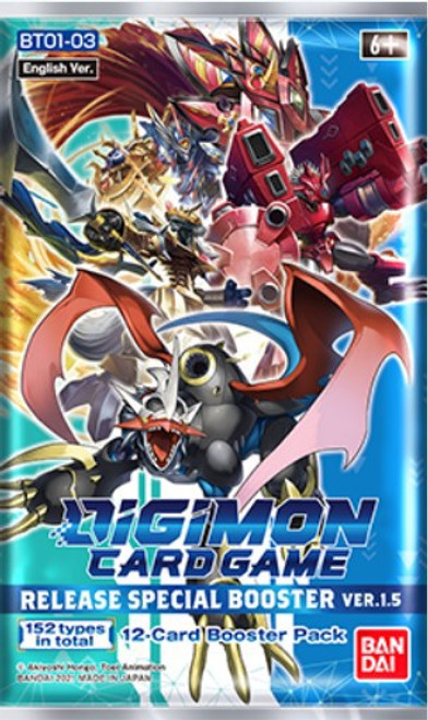 Digimon Card Game Release Special Booster Ver 1.5 Booster Pack [12 Cards] (Pre-Order ships February, 2021)