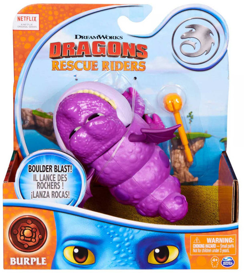 How to Train Your Dragon Rescue Riders Basic Dragons Burple Figure