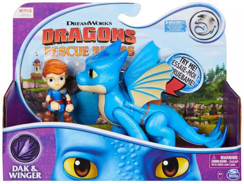 How to Train Your Dragon Rescue Riders Dak & WInger Figure Set