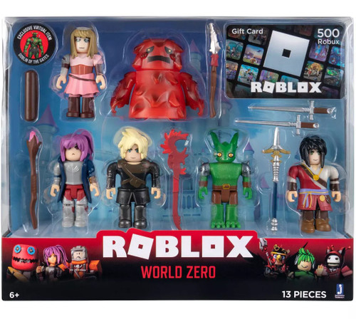 Roblox World Zero Exclusive Action Figure 6-Pack [Includes 500 Robux Gift Card!]