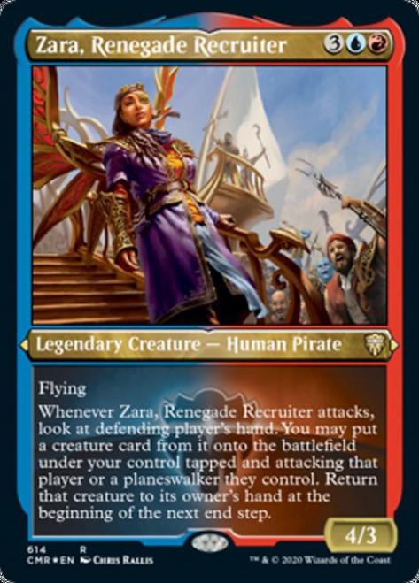 MtG Commander Legends Rare Zara, Renegade Recruiter #614 [Etched Foil]