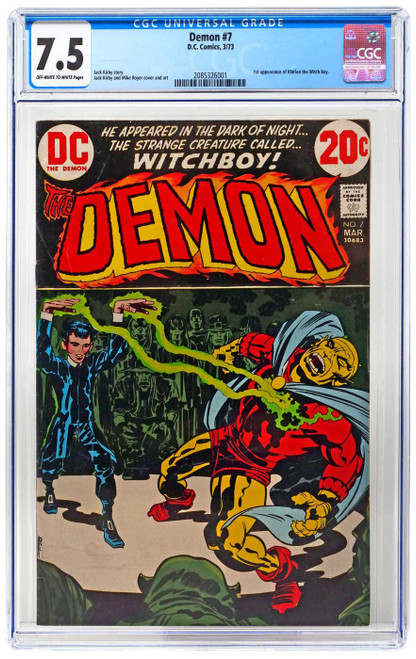 DC Comics Demon #7 Comic Book [First Klarion the Witch Boy, CGC graded 7.5, Certification #2085326001] [7.5 Off-White to White Pages]