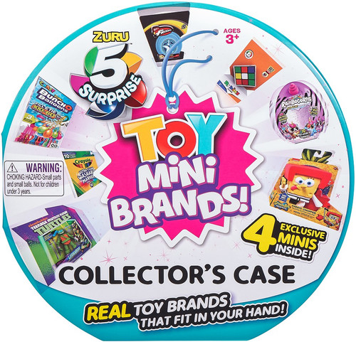 5 Surprise Mini Brands! TOY Collector Case [Includes 4 Minis!] (Pre-Order ships July)