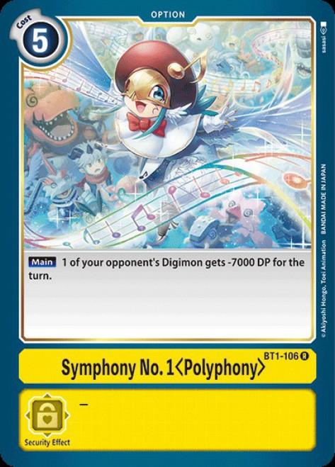 Digimon Trading Card Game 2020 V.1 Rare Symphony No 1 Polyphony BT1-106