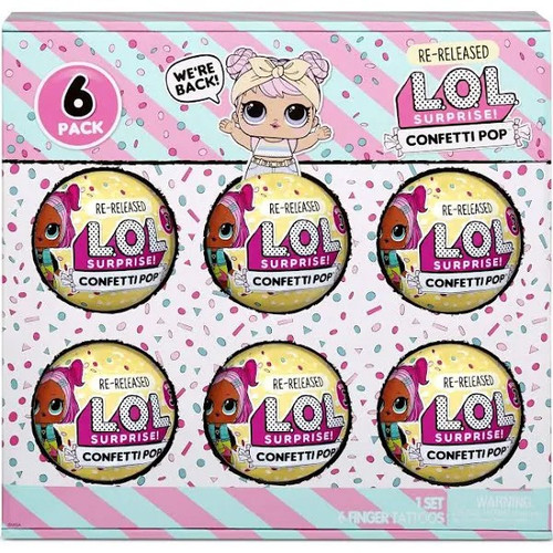 LOL Surprise Re-Released Series 3 Confetti Pop Dawn Mystery 6-Pack