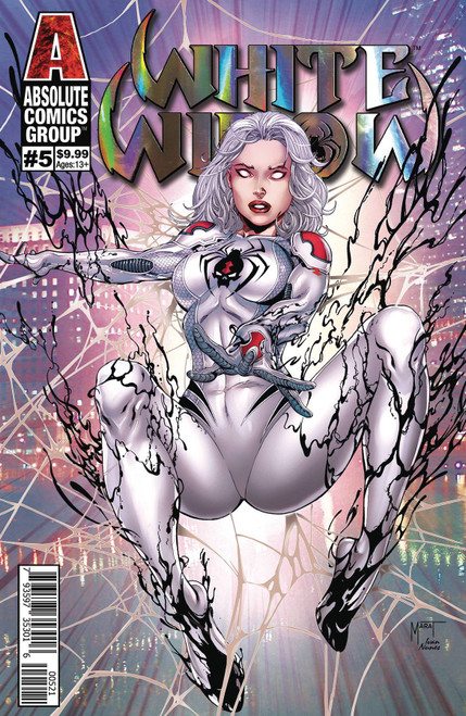 Absolute Comics Group White Widow #5 Comic Book [Cover B Mychaels Silver Holographic Foil Logo]