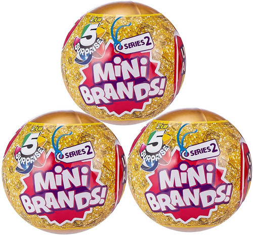 5 Surprise Mini Brands! Series 2 LOT of 3 Mystery Packs