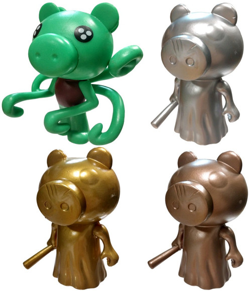 Series 1 Bronze Piggy, Golden Piggy, Silver Piggy and Green Parasee 3-Inch Set of 4 Chase Mini Figures [with DLC Codes Loose]