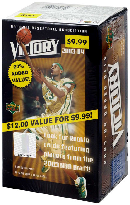NBA 2003-04 Basketball Trading Card Box [11 Packs + 2 Bonus Packs]