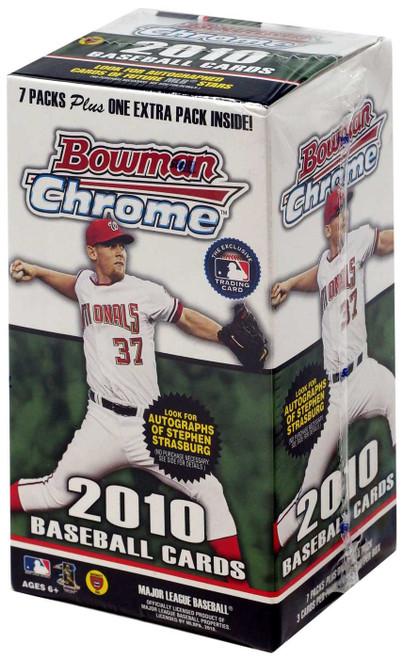 MLB Topps 2010 Bowman Chrome Baseball Cards Trading Card BLASTER Box [7 Packs + 1 Extra Pack]
