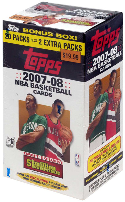 NBA Topps 2007-08 Basketball Exclusive Trading Card BONUS Box [20 Packs + 2 Extra Packs]