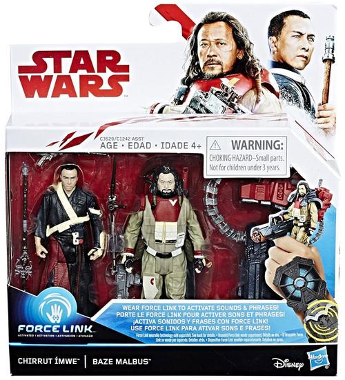 Star Wars The Last Jedi Force Link CHIRRUT IMWE & BAZE MALBUS Action Figure 2-Pack