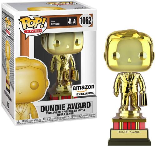 Funko The Office POP! TV Dundie Award Exclusive Vinyl Figure #1062 [Gold Chrome, Customizable!]