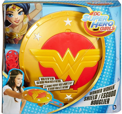 DC Super Hero Girls Wonder Woman Shield Roleplay Toy [With Discs, Damaged Package]