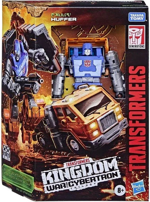 Transformers Generations Kingdom: War for Cybertron Trilogy Huffer Deluxe Action Figure