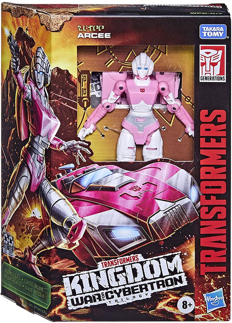 Transformers Generations Kingdom: War for Cybertron Trilogy Arcee Deluxe Action Figure (Pre-Order ships April)