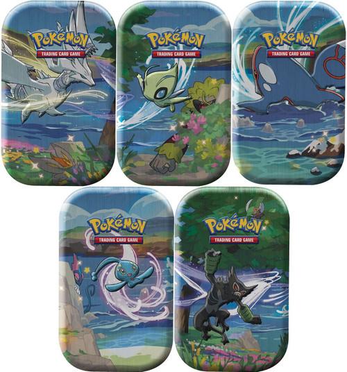 Pokemon Trading Card Game Shining Fates Set of 5 Mini Tins [2 Booster Packs Per Tin]