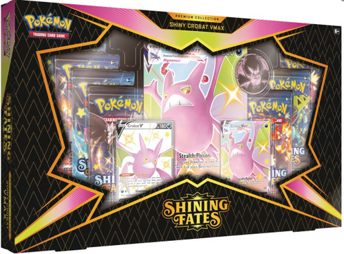 Pokemon Trading Card Game Shining Fates Crobat VMAX Premium Collection [7 Booster Packs,2 Promo Cards, Oversize Card & Coin!] (Pre-Order ships March)