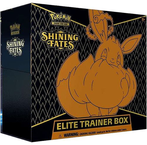 Pokemon Trading Card Game Shining Fates Eevee VMAX Elite Trainer Box [10 Booster Packs, Promo Card, 65 Card Sleeves, 45 Energy Cards & More!] (Pre-Order ships April)
