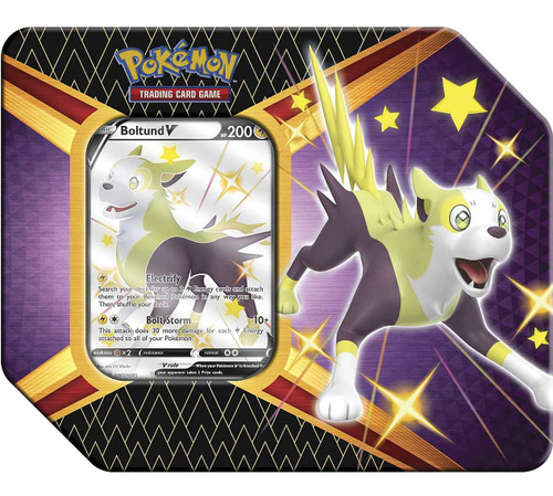 Pokemon Trading Card Game Shining Fates Botund V Tin Set [6 Booster Packs & Promo Card!] (Pre-Order ships February)