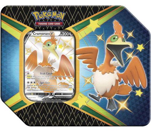 Pokemon Trading Card Game Shining Fates Cramorant V Tin Set [6 Booster Packs & Promo Card!] (Pre-Order ships February)