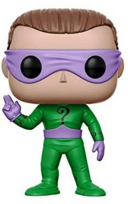 Funko DC Batman 1966 TV Series POP! Heroes The Riddler Vinyl Figure #183 [Wearing Mask, Regular Version, Loose]