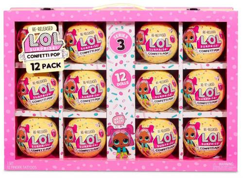 LOL Surprise Re-Released Original Series 3 Confetti Pop Confetti Pop Suitcase Mystery 12-Pack