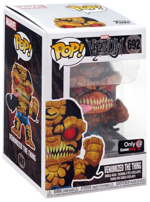 Funko POP! Marvel Venomized The Thing Exclusive Vinyl Figure #692 [Metallic]